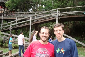 Me and Gustavo in Curitiba, 2009